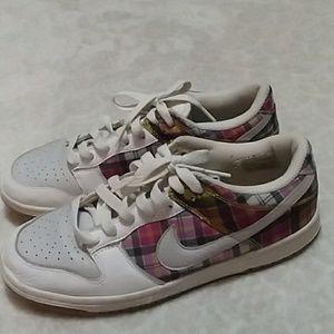 Plaid Nike sneakers
